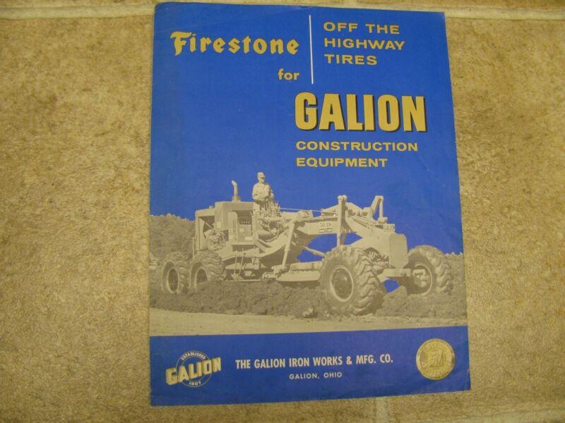 Galion Firestone Tires Sales Brochure Literature