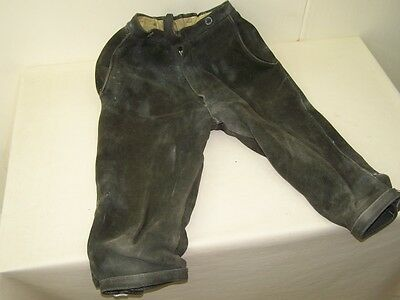 Beautiful Old Leather Trousers, Size / Federal 38 cm Length 74 cm pretty decor