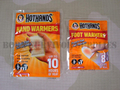 NEW HOTHANDS HAND & FOOT WARMERS - Disposable Pocket Glove Feet Warmer Heat Pack Pocket Hand Warmers
