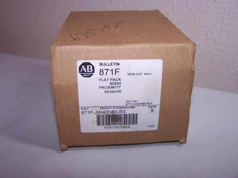 ALLEN BRADLEY 871F-JW40N80-R3 FLAT PACK 80X80 PROXIMITY SENSOR NEW IN BOX