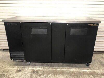 2 Solid Door Back Bar Beer Cooler Refrigerator True Tbb-3 1957 Bottle Can Nsf