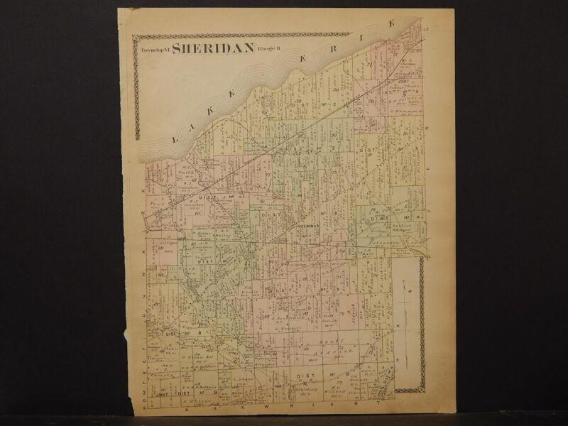 New York, Chautauqua County Map, 1881 Township of Sheridan !J2#01