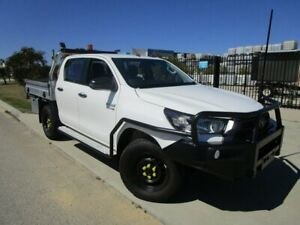 2020 Toyota Hilux GUN126R SR Double Cab Glacier White 6 Speed Sports Automatic Cab Chassis Bassendean Bassendean Area Preview