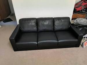 3 Seated Black Sofa in great condition Rockdale Rockdale Area Preview