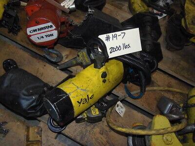 2000 Lb. Yale Air Hoist 15 Chain
