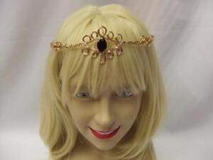 Gold Medieval Circlet ~ Black Gem  ~ Fairy ~ Headdress ~ Arwen ~ Maid Marion