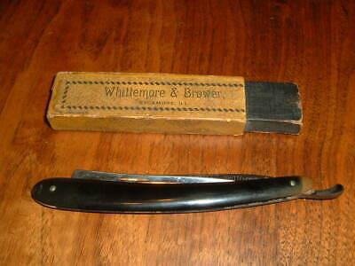 """Whittemore & Brower straight razor Sycamore ILL.  13/16"""" blade rare ? w/ 1/2 box"""