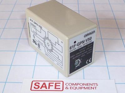 Omron Water Leak Detector 61f-gpn-v50 Ac100 Moisture Level Alarm Socket Mnt H41