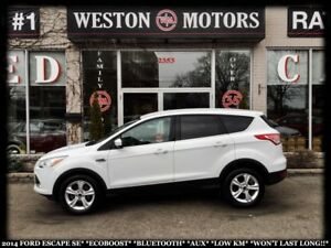 2014 Ford Escape SE*ECOBOOST*BLUETOOTH*AUX*LOW KM*A MUST SEE!!!*