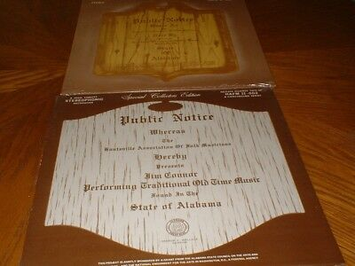 Alabama Bluegrass Association Albums  1 And  2 New Unopened Set