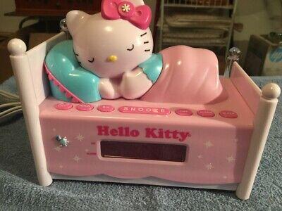 HELLO KITTY ALARM CLOCK WITH RADIO