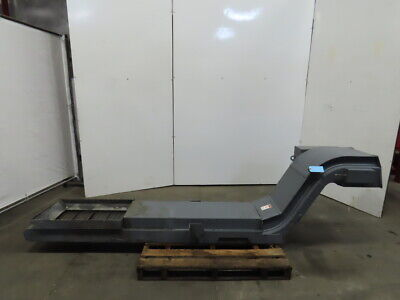 Incline Cleated Chip Conveyor 14 Belt 20 Discharge 4fpm 208220 3ph