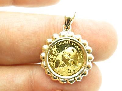 1990 Chinese Panda 1/20 oz .999 Schöne Gold Münze Bullion Anhänger Geschenk ()