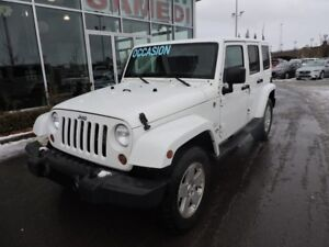 2012 Jeep Wrangler Unlimited SAHARA 4X4 2 TOIT JAMAIS ACCIDENTÉE