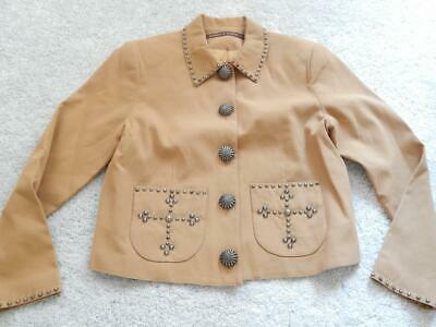 DOUBLE D RANCH WESTERN COWGIRL JACKET MULTIPLE CONCHO STUDS - LINED - NICE  - $65.00