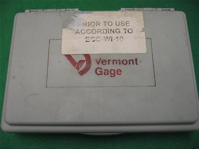 49 Vermont Gage Gauge Pin Class Zz No Go Rod Plug Hole Kit Set Zz .011 - .060