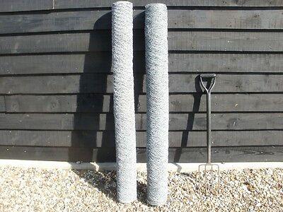 100m  of 1.5m (5ft) tall galvanised chicken hexagonal garden wire mesh