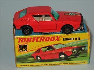 MATCHBOX SUPERFAST 62c RENAULT 17 TL TRANSFERS//DECALS