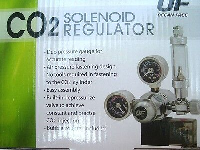 OCEAN FREE CO2 SOLENOID REGULATOR with BUBBLE COUNTER
