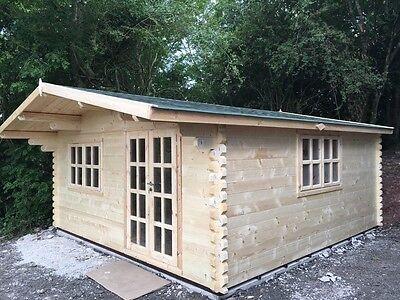 MAXX LOG CABIN - 5m x 5m - 68mm - Summer House, Garden Building, Home Office