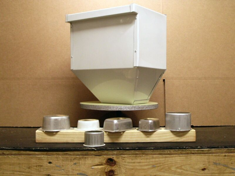 "Scupper Box 12"" wide 13"" tall 8.75"" deep .032 Alum.High Gloss White. Very nice!"