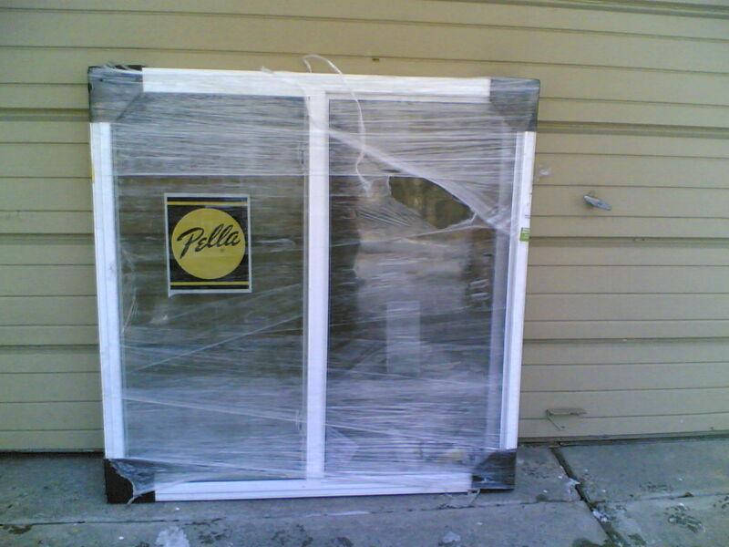 "BRAND NEW:  Pella Big White Vinyl Semi-SLIDER Home WINDOW  (48"" W x 48"" H)"