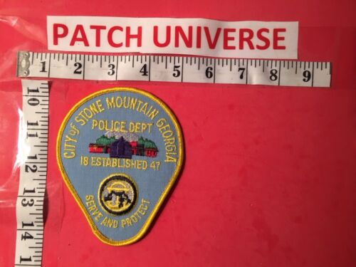 CITY OF STONE MOUNTAIN  GA POLICE SHOULDER PATCH  Q111
