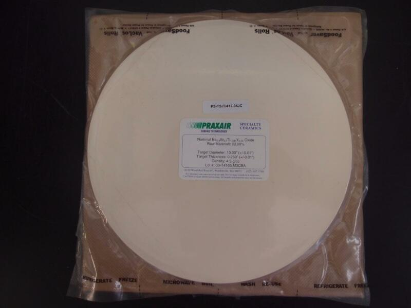 "Praxair Ceramics Sputtering Target Ba-Sr-Ti-Y Oxide 99.99% 10""x0.25"" (3131)"