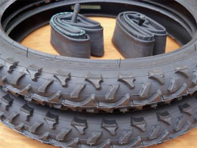 Kids Bicycle Tires and Tubes 16x2.0 Fits 1.75 16x1.95 2.125 Black 16