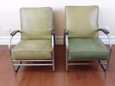 :  Vintage Royalchrome Tubular Chrome Chairs Pair