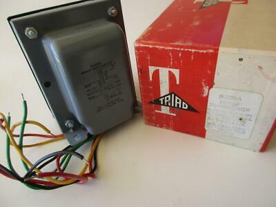 R-205a Triad Transformer Primary 117v Solid State Rectifier Power 3 Secondaries