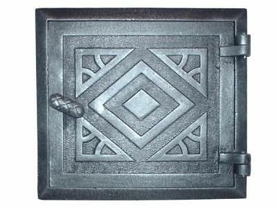 Cast Iron Fire Door Clay Bread Oven Pizza Stove Quality Silver (I) 26,5 x 24