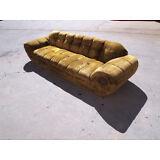 MiD-Century Modern Green Cloth Sofa 50-60's