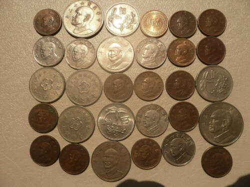 Lot of 30 Taiwan Coins