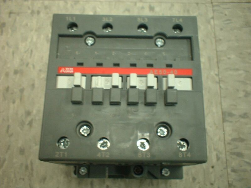 ABB AE50-40  4 pole Contactor 24vdc Coil, Contacts 80A, High Amperage Relay 4PST