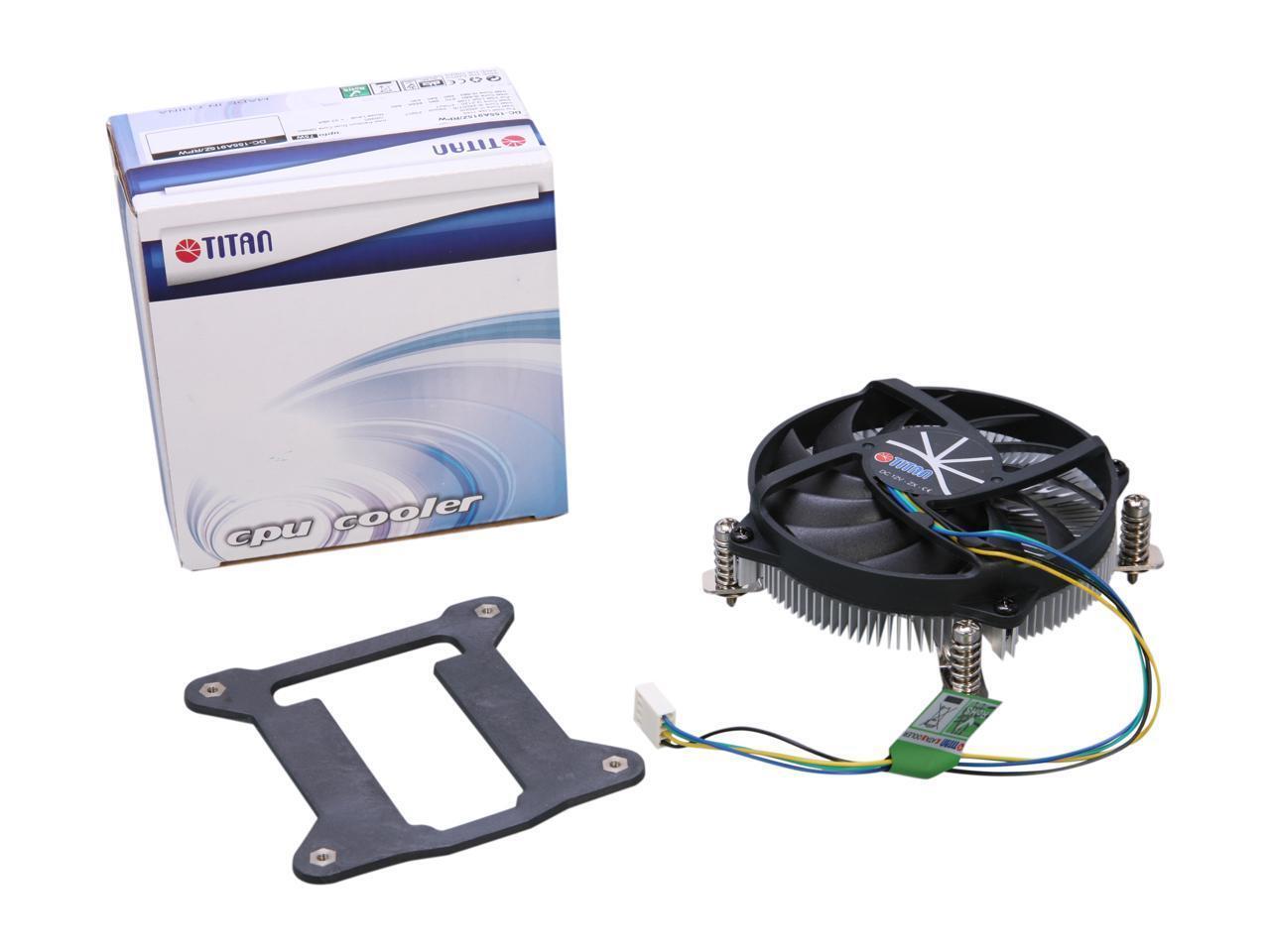 Titan DC-155A915Z//RPW 95mm HTPC Low Profile CPU Cooler Intel LGA 1155 1156