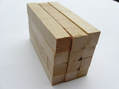 Hard Maple Wood Pen Blanks Blank Turning Squares Spindle Lathe - 12 Pcs