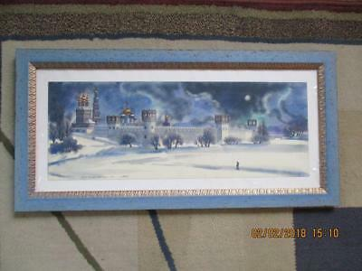 WATERCOLOR On MEDIUM RAG PAPER SIGNED FRAMED UNDER GLASS ORIGINAL - $52.99