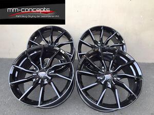 18 Zoll mm Spider Felgen 8.5x18 et50 5x114,3 schwarz Gutachten RS RX Cabrio Coup