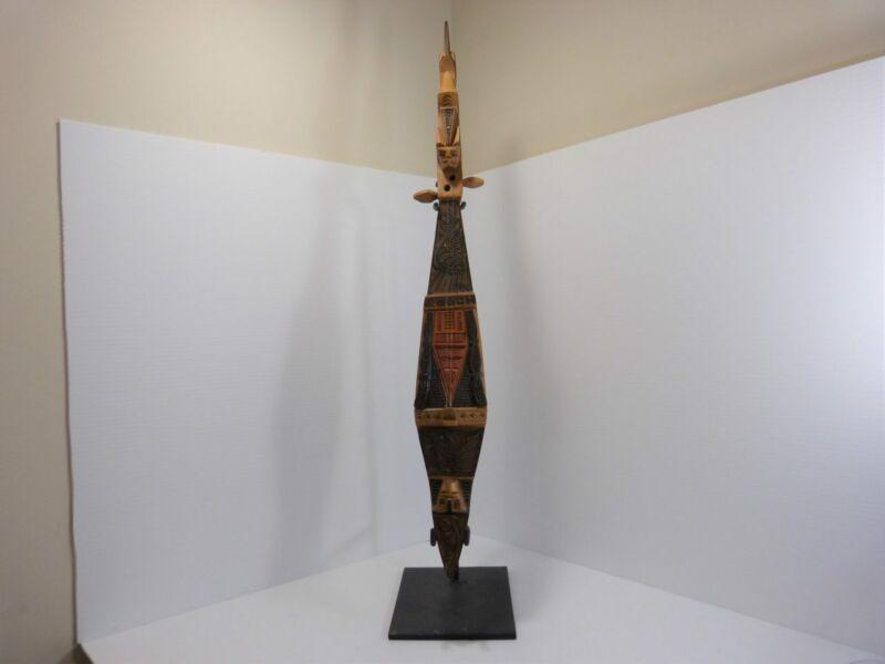 Hasapi (Kacapi) Ornamental Hand Carved Boat Lute 2 String