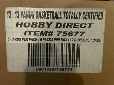 2012 Panini Totally Certified Factory Sealed Basketball 12 Box Hobby Case