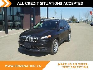 2016 Jeep Cherokee Limited LEATHER INTERIOR, 4X4, FACTORY WAR...