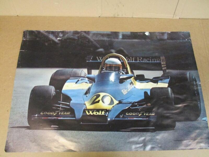 1977 Jody Scheckter Wolf Ford Race Car Poster