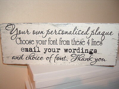 shabby vintage chic your own personalised any word plaque distressed
