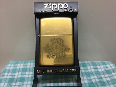 1994 UNUSED ZIPPO LIGHTER SOLID BRASS TAP & SPILL