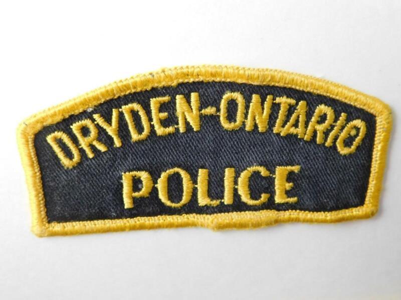 DRYDEN  POLICE VINTAGE PATCH BADGE ONTARIO CANADA COLLECTOR