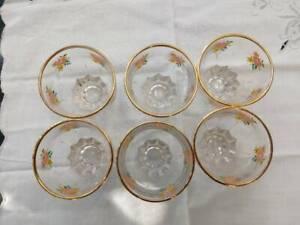 Set of 6 vintage drinking glasses