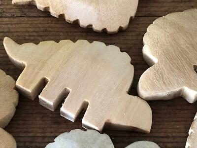 Wholesale Wood Craft Supplies (Vintage Wood Hand Carved ** Dinosaur Beads ** Wooden Animal Jewelry Craft)