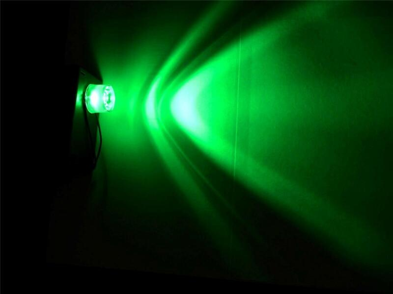 GREEN Battery Operated LED mini flood for Halloween props and Haunted Houses