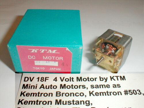 Vintage Motor 4 Volt 5 Pole Armature by KTM  DV 18F 1960s Slot Car NOS with Box